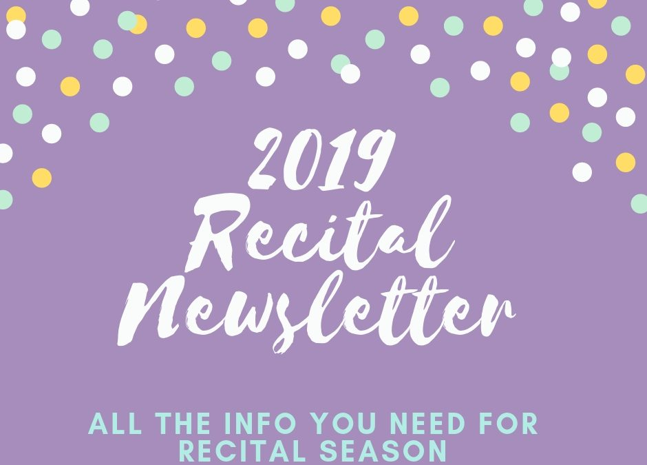 Recital Newsletter