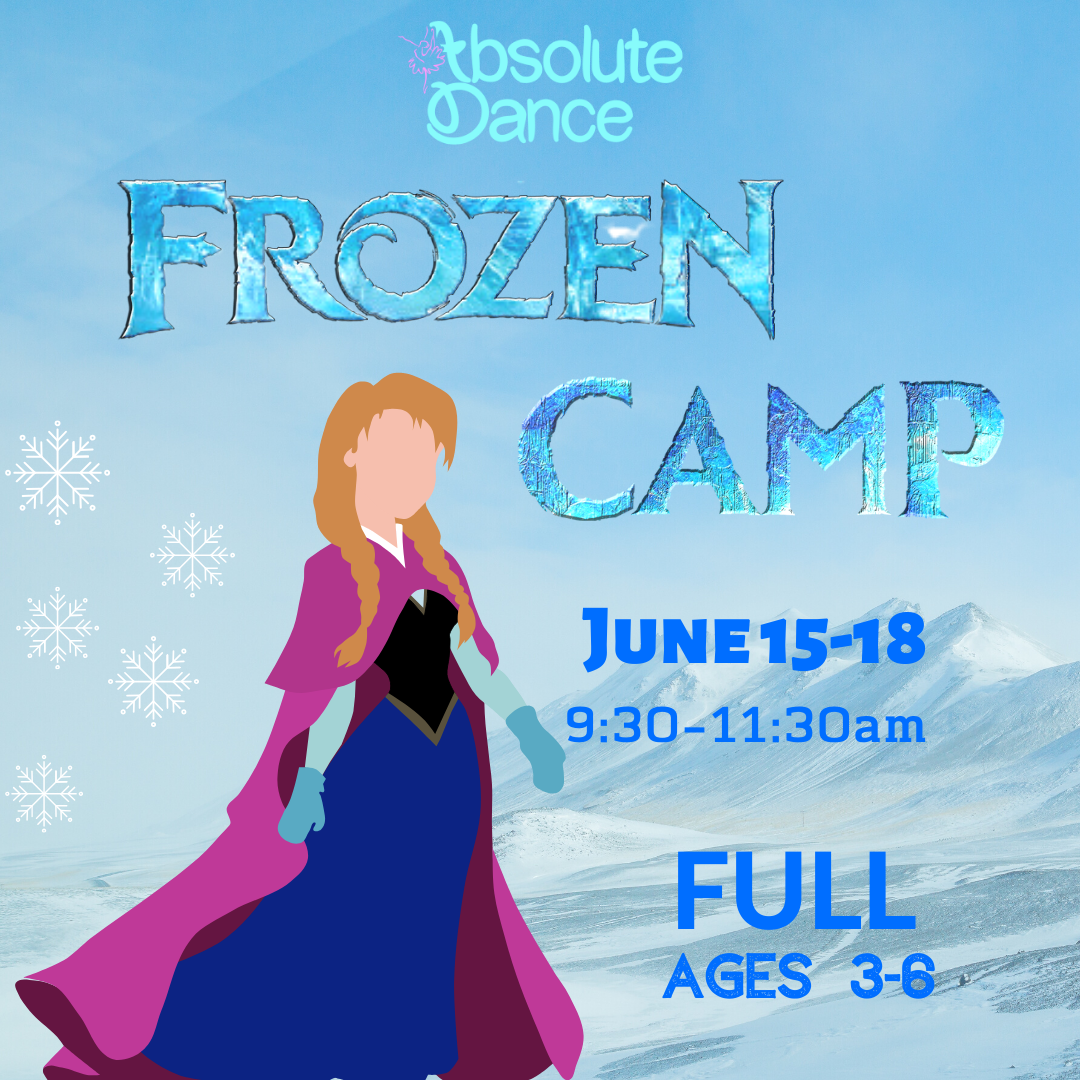 Calling all sisters, snow queens, and heart-melting snowmen! This camp takes dancers through an adventure into the unknown where self discovery, creative movement, and lots of magic swirl through each day! The camp is open to students ages 3-6 and will feature awesome crafts, frozen treats, and lots of dancing fun! Our week will conclude with an amazing performance for family and friends that could only take place in Summer!